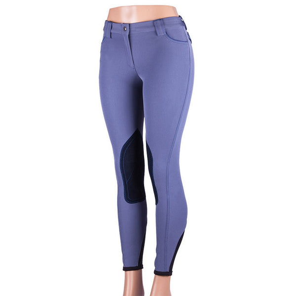 Sarm Hippique OLBIA CONTRAST Breech Avion Blue with Blue Contrast The Twisted Bit