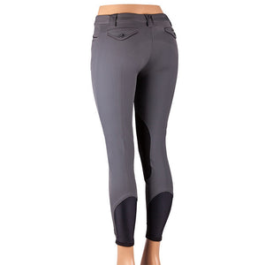 Sarm Hippique OLBIA CONTRAST Breech Grey with Black Contrast The Twisted Bit