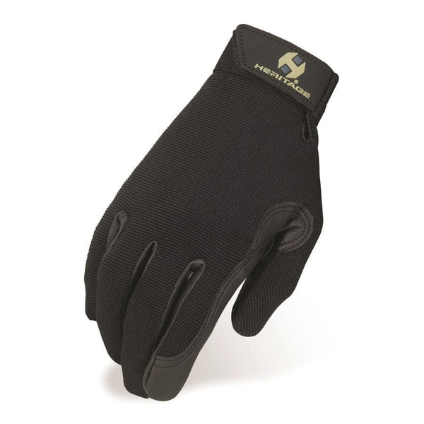 Heritage Performance Gloves Black Twisted Bit