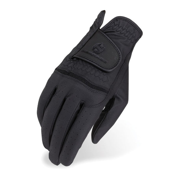 Heritage Premier Show Gloves Black Twisted Bit