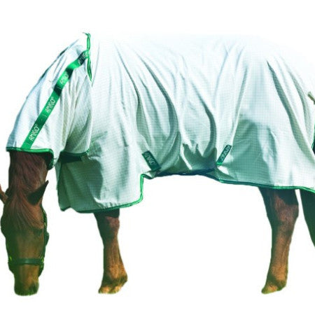 Horseware AMIGO® Aussie Allrounder White with Green Details Twisted Bit
