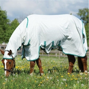 Horseware AMIGO® Aussie Barrier White With Green Details Twisted Bit