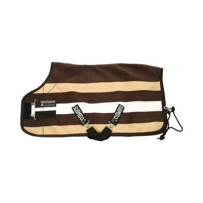 Horseware RAMBO®  Deluxe Fleece Cooler Witney Stripe Chocolate Twisted Bit