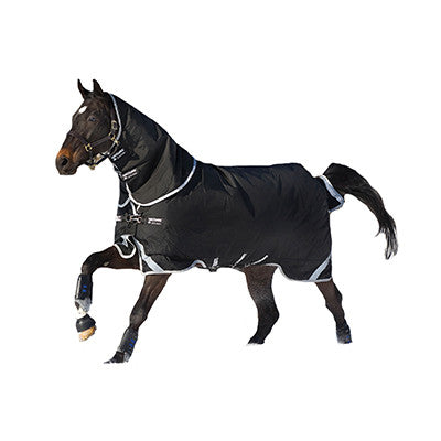 Horseware RAMBO® Supreme Turnout With Vari-Layer Medium  250g Black with Silver Twisted Bit