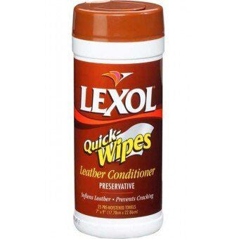 Lexol Equine Quick Leather Conditioner Wipes Twisted Bit