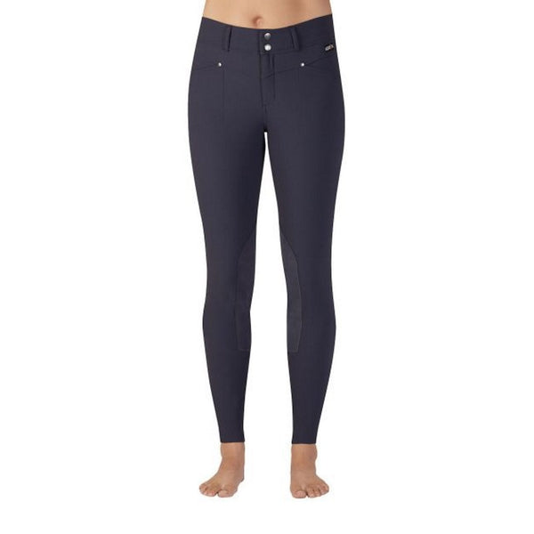 Kerrits Breeches: Womens Cross Over Kneepatch Ebony