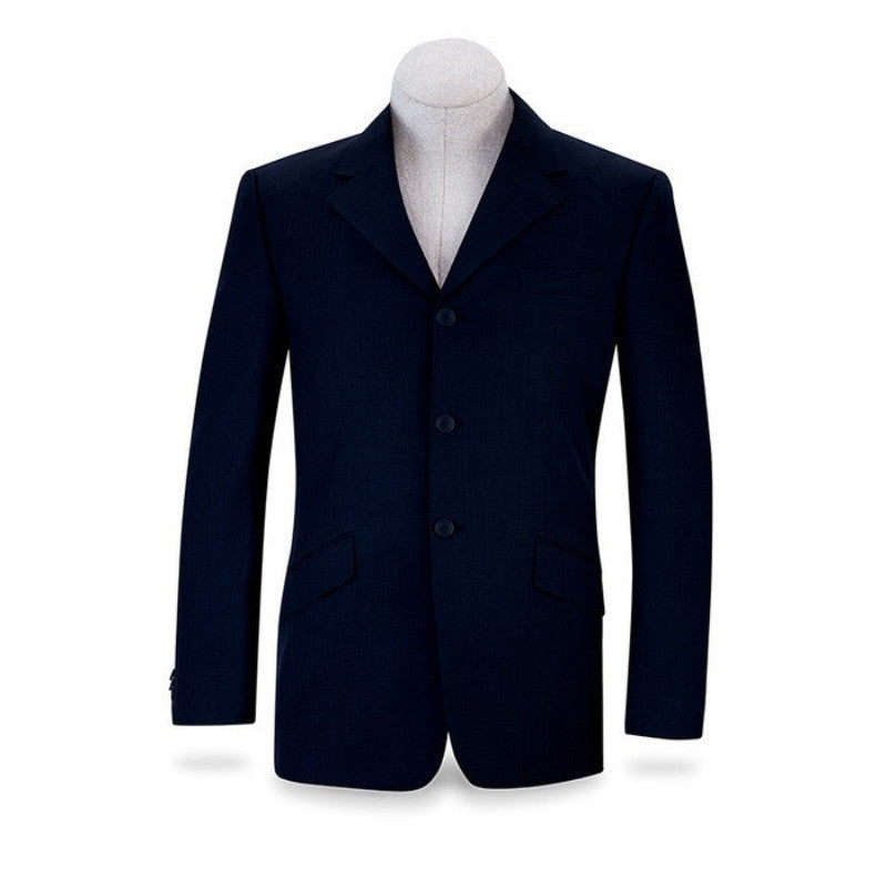 RJ Classics Men's RJ Collection National Navy Herringbone Washable Show Coat Twisted Bit