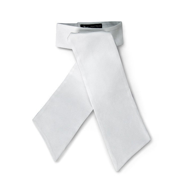 RJ Classics Platinum Collection White Pique Stocktie Twited Bit
