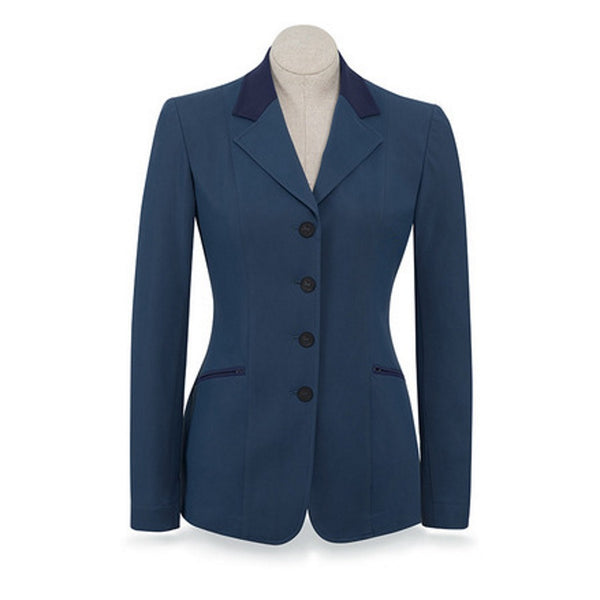 RJ Classics Ladies French Blue Victory Soft Shell Show Coat w/Navy Trim The Twisted Bit