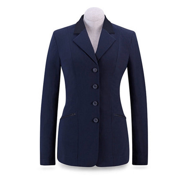 RJ Classics Ladies Navy Victory Soft Shell Show Coat w/Pattern Trim The Twisted Bit