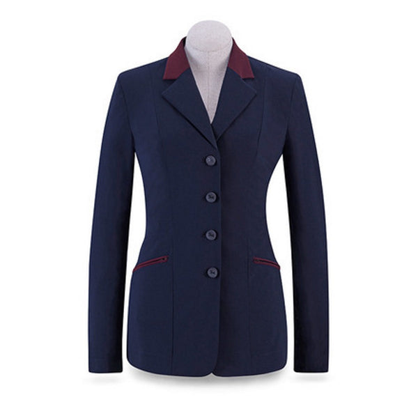 RJ Classics Ladies Navy Victory Soft Shell Show Coat w/Red Trim The Twisted Bit