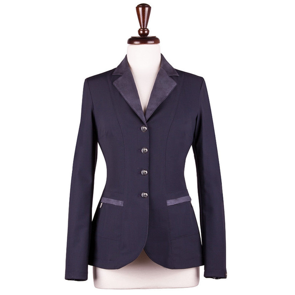 Sarm Hippique VERBANIA Show Coat Navy with Navy Suede Twisted Bit