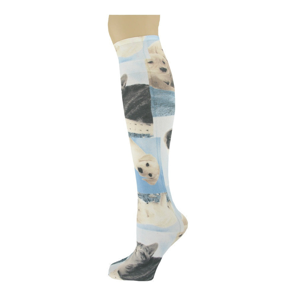 Sox Trot Cuteness Women's Knee High Socks The Twisted Bit