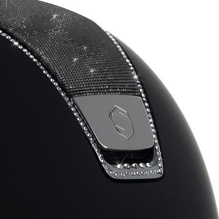 Samshield Shadowmatt Shimmer Helmet with 255 Swarovski Crystals Black Twisted Bit