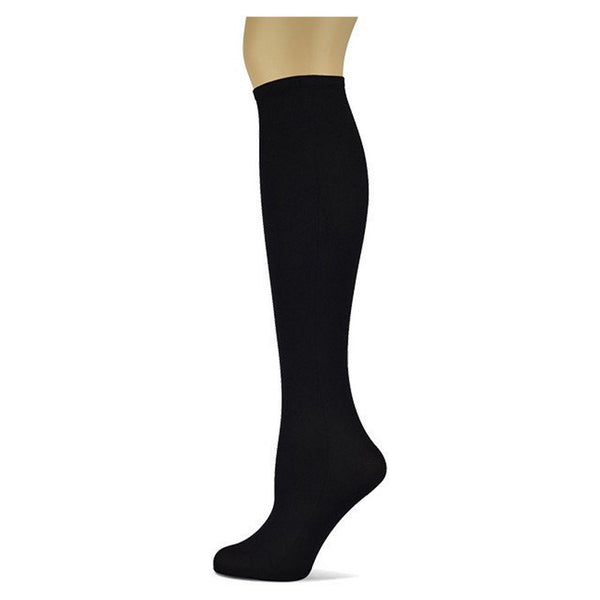 Sox Trot Solid Black Women's Knee High Socks The Twisted Bit