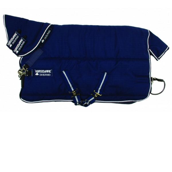 Horseware RAMBO® Stable Plus With Vari-Layer Heavy Navy with White Twisted Bit