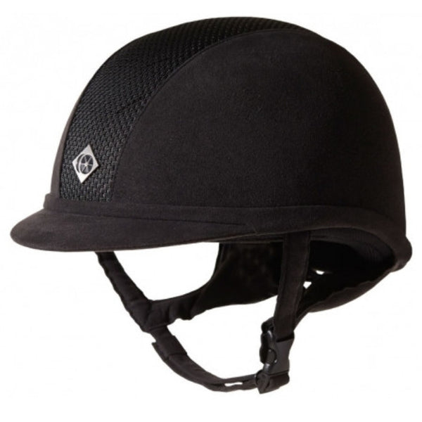 Charles Owen AYR8 Helmet Black Black Twisted Bit