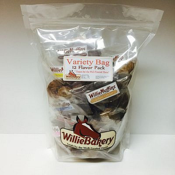 Willie Muffin Treats Variety Bag 12 Flavors Twisted Bit