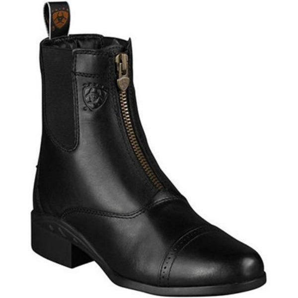 Ariat Heritage III Zip Paddock Boot Black The Twisted Bit