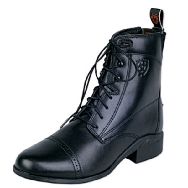 Ariat Ladies Heritage III Lace Paddock Boot Black The Twisted Bit