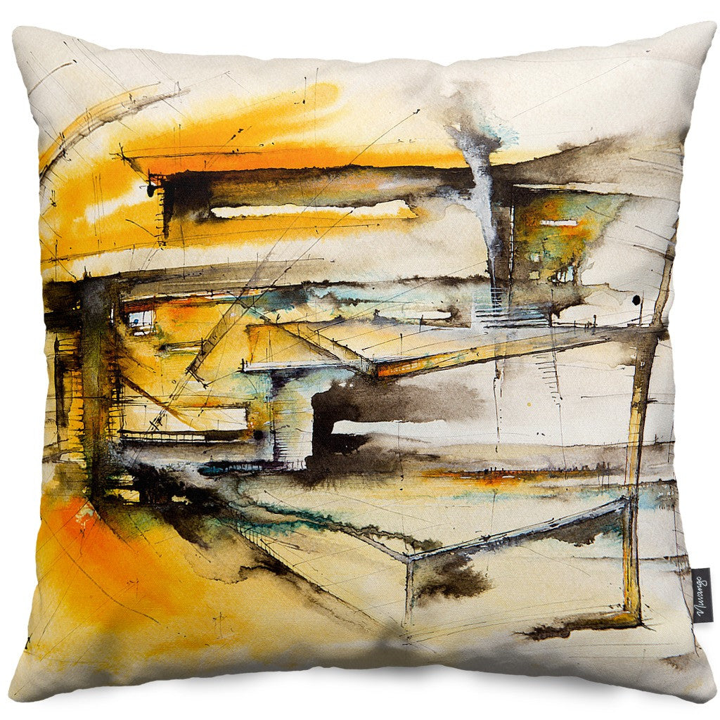 Private Spaces Throw Pillow