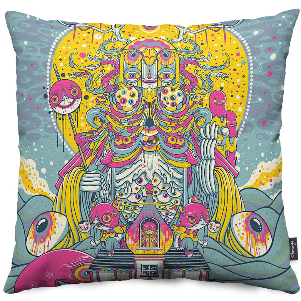 Fun House Throw Pillow