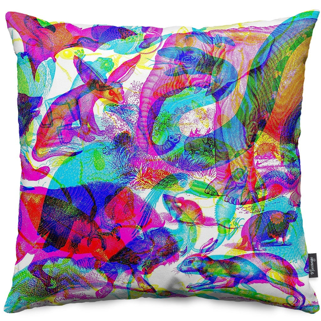 Animalia Throw Pillow