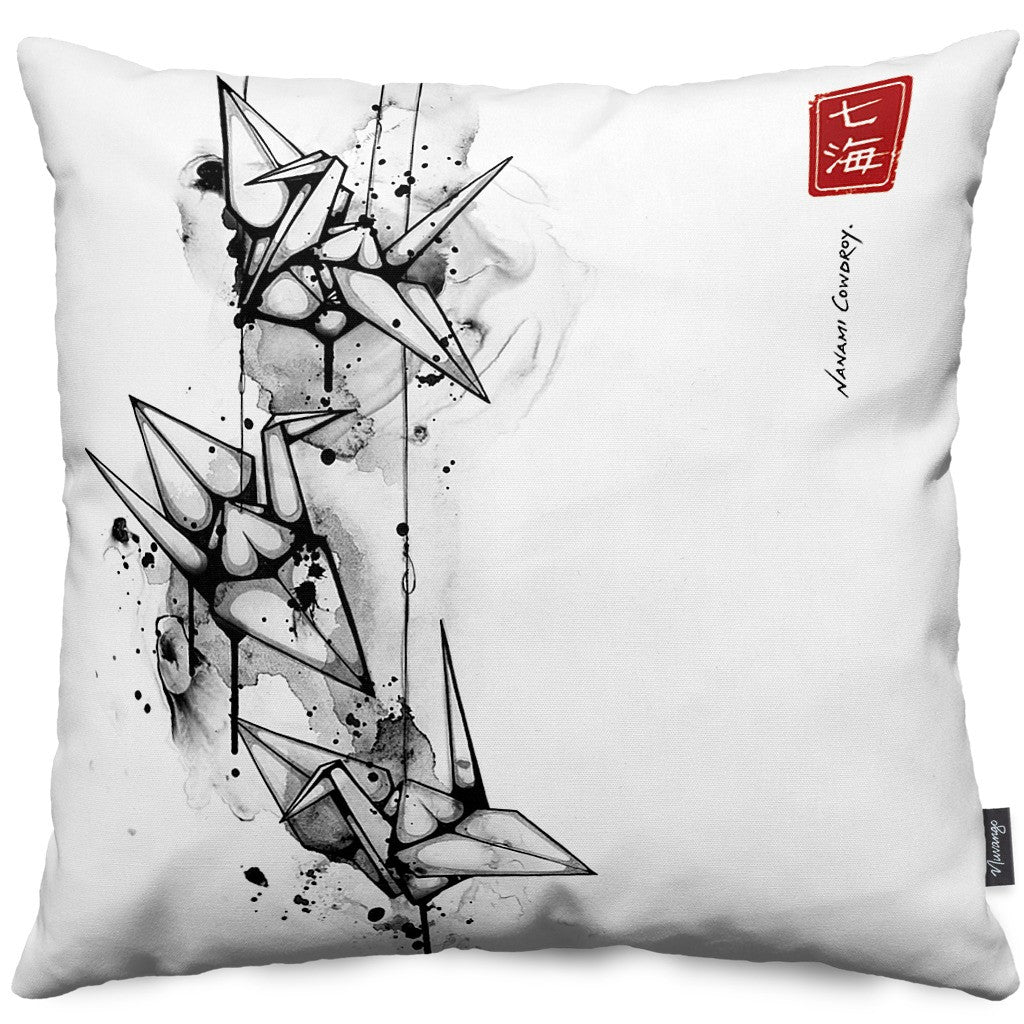 Tsuru Throw Pillow