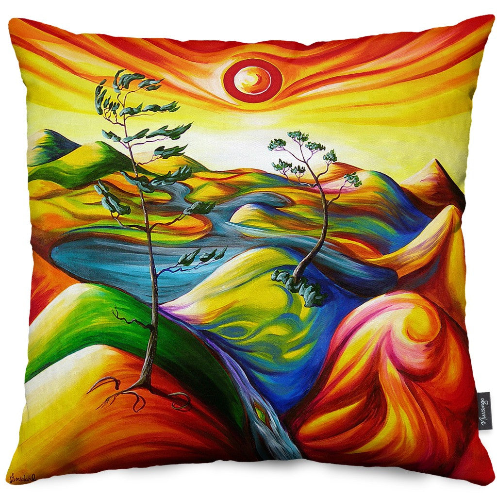Summer Oasis Throw Pillow