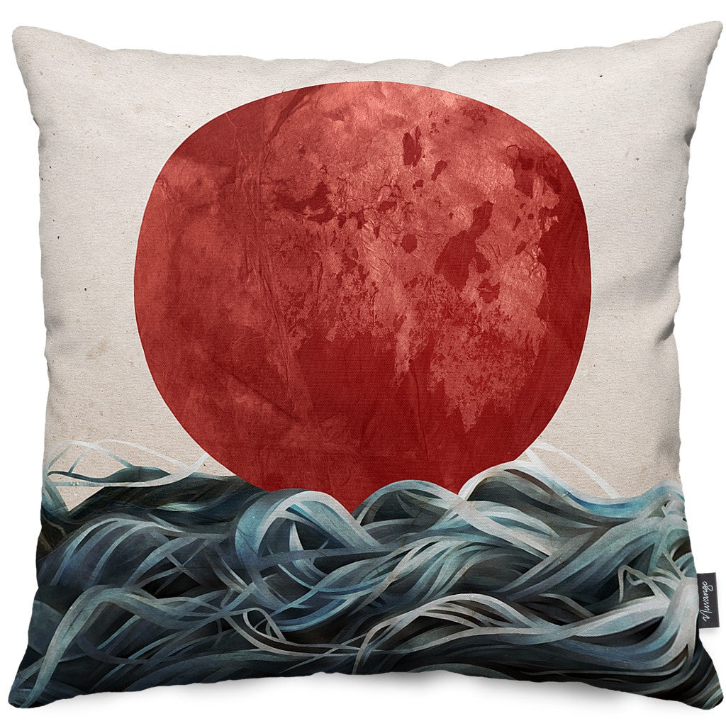 Sunrise in Japan Throw Pillow