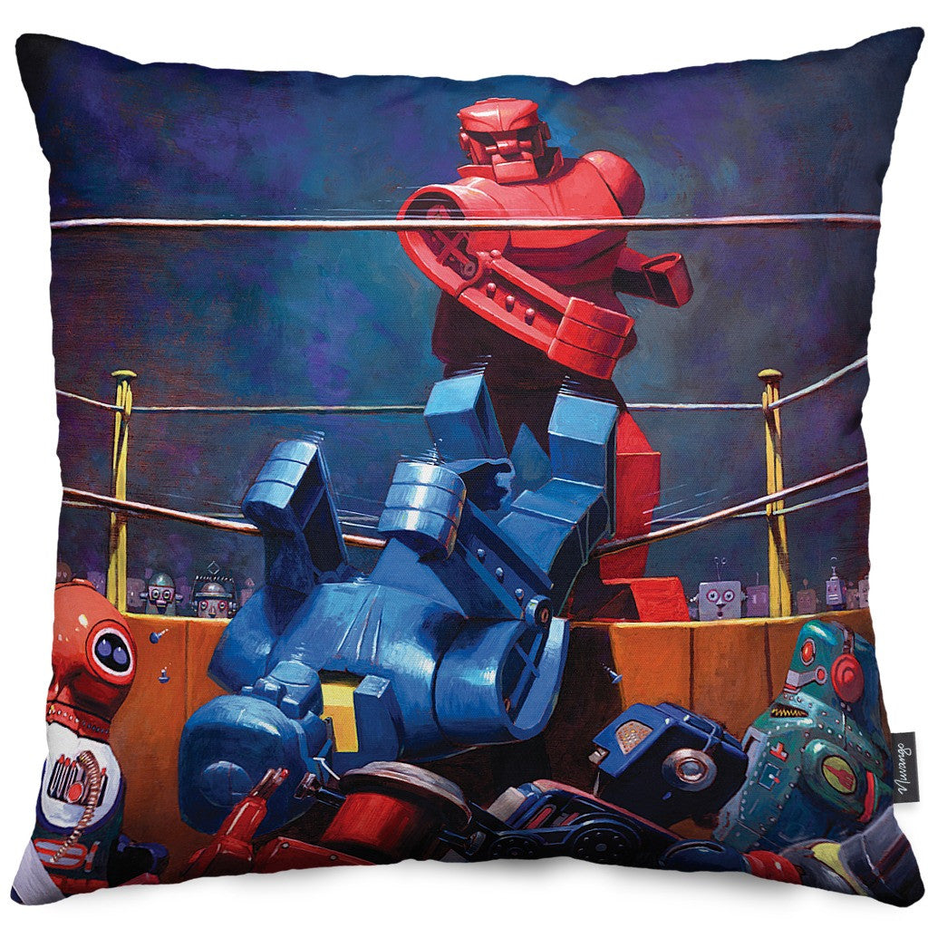 The Final Blow Throw Pillow