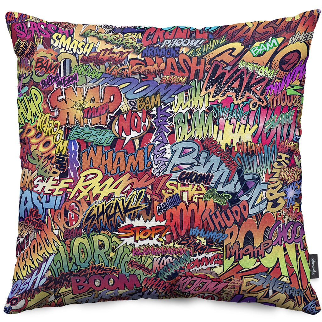 Action Packed Throw Pillow