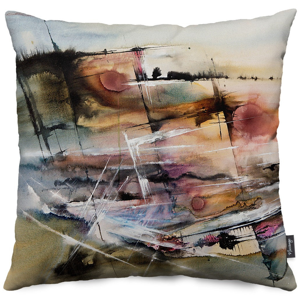 Driving at Dusk Throw Pillow