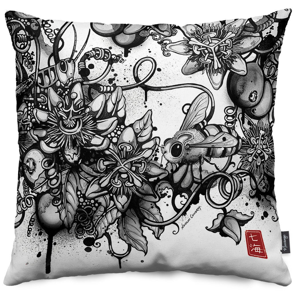 Inksects Throw Pillow
