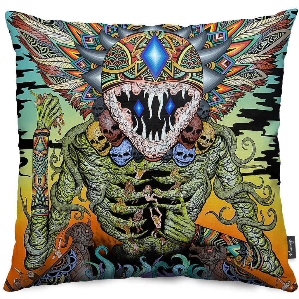 A Gleaming Destroyer Throw Pillow