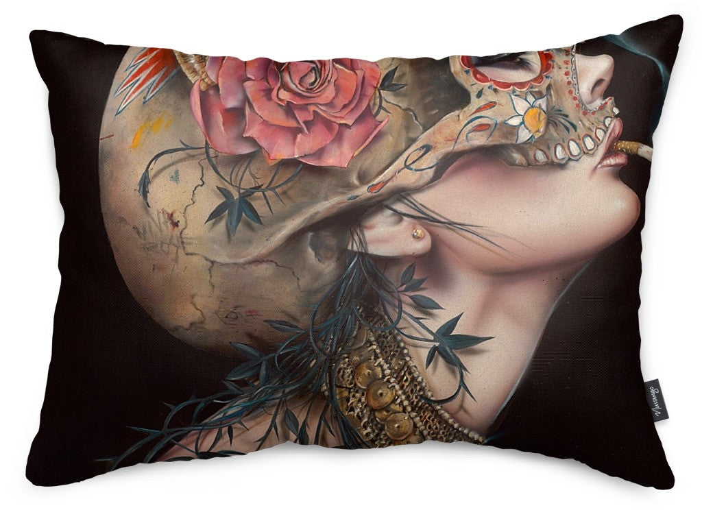 Viva La Muerte II Throw Pillow