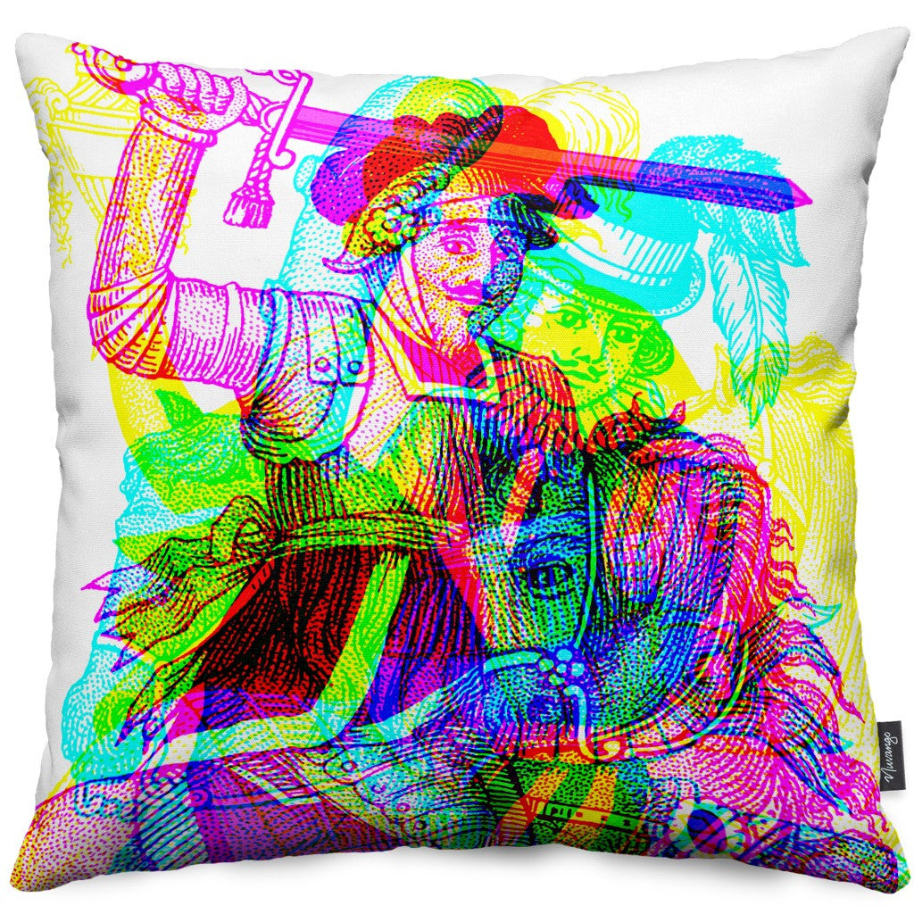 Horseman Throw Pillow