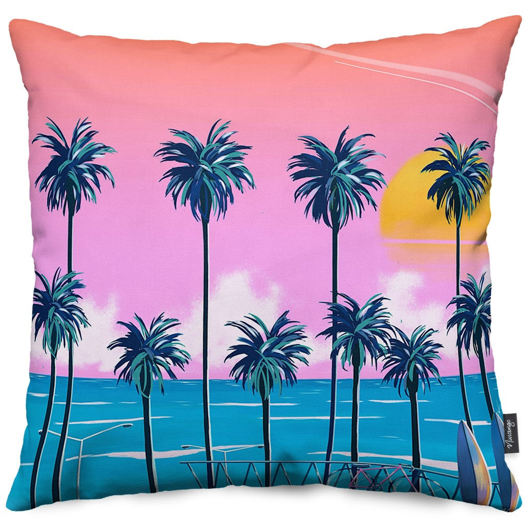 Sunset Lovers Throw Pillow