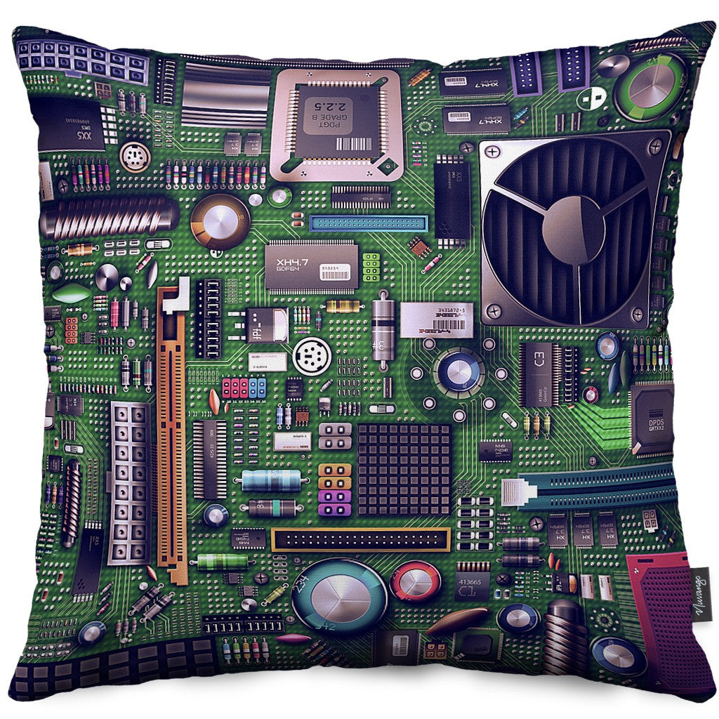 Motherboard Throw Pillow