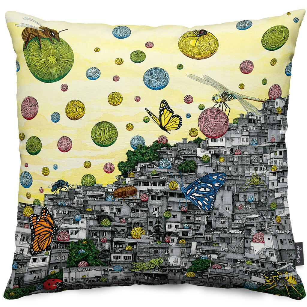Symphony of Perception Throw Pillow