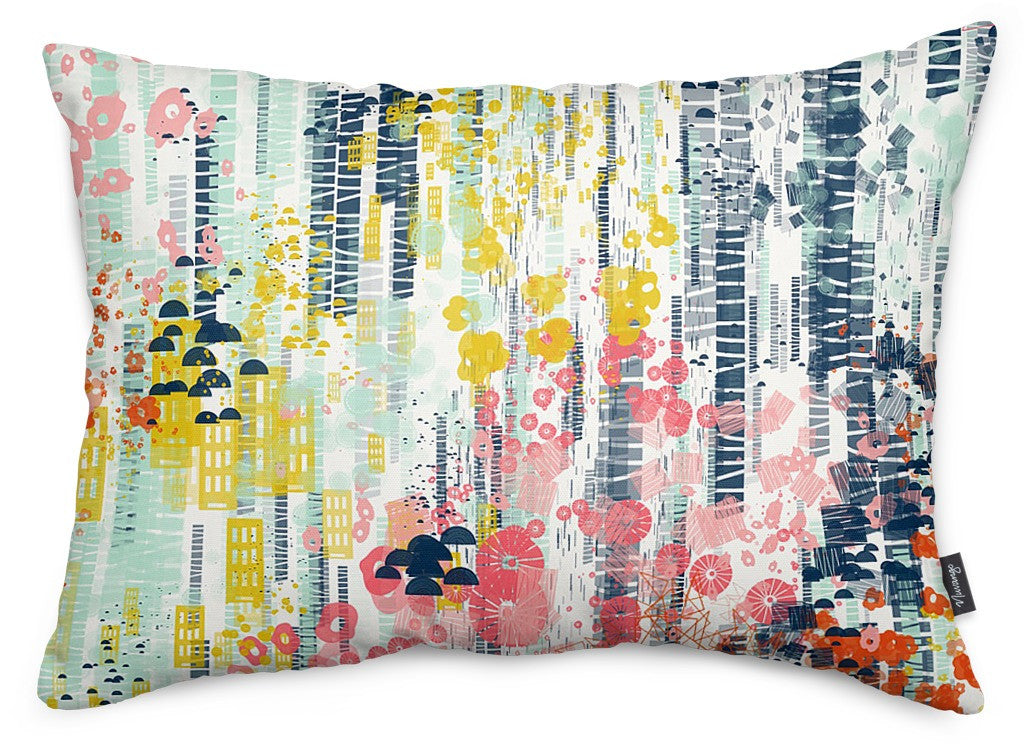 Flower Fall Throw Pillow