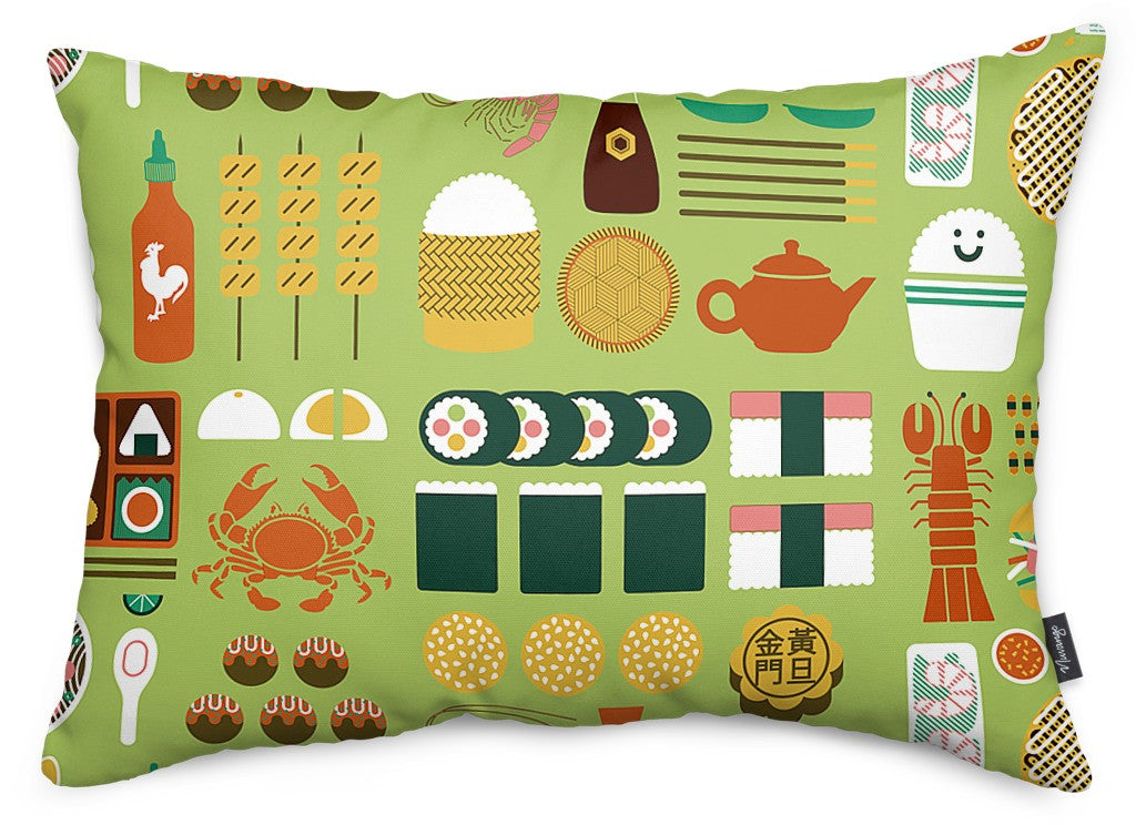 Itadakimasu Throw Pillow