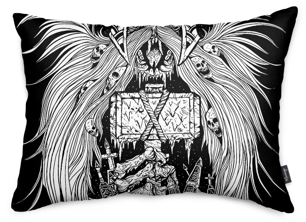 Frost Hammer Throw Pillow