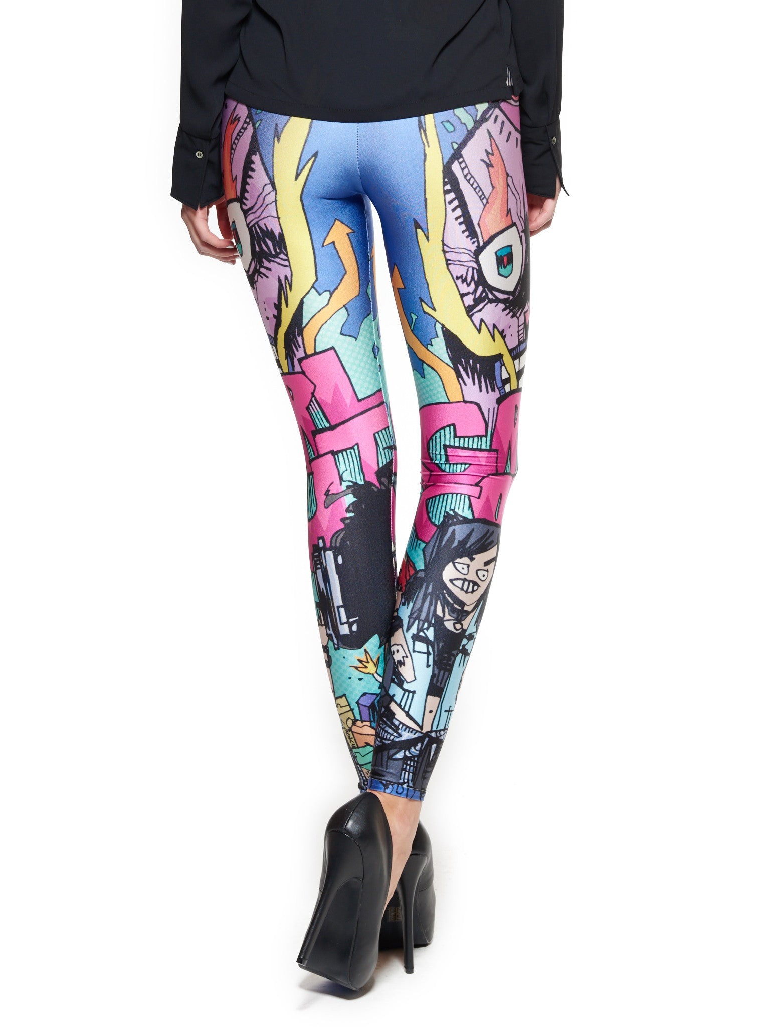 Grrl Scouts Skull Shroom Queen West Leggings - Nuvango  - 3