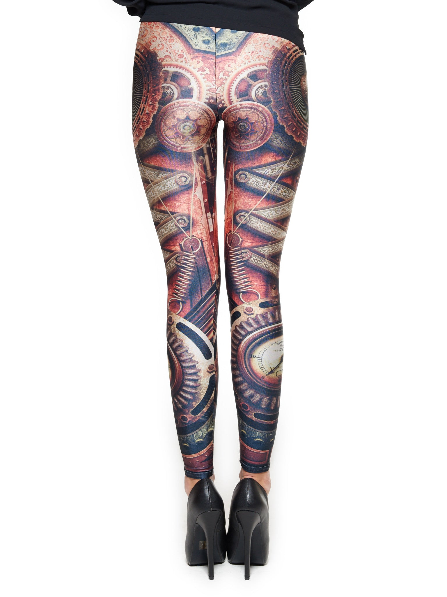 Steampunk Motherboard Queen West Leggings - Nuvango  - 3