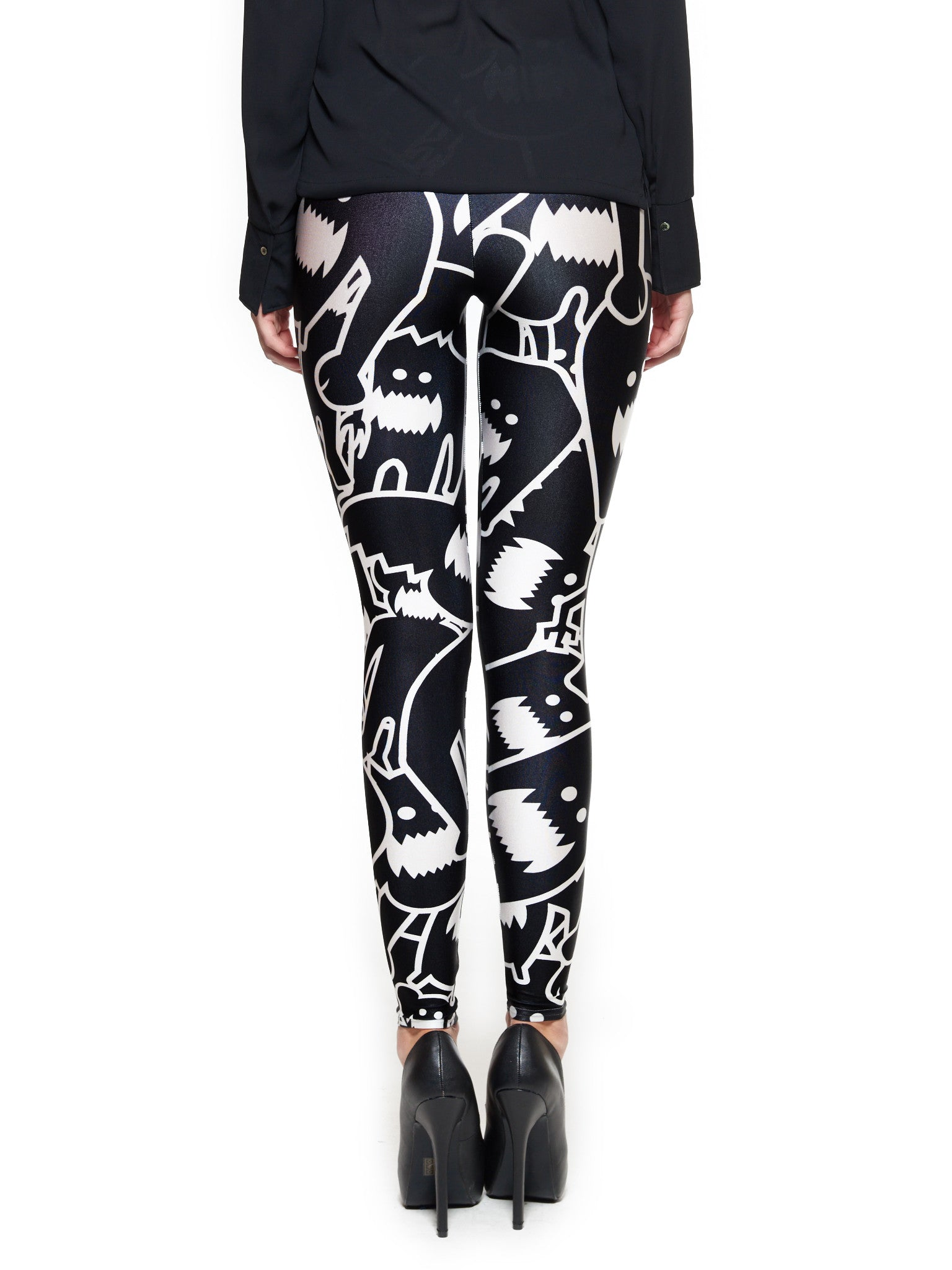 Monster Collage 2 Queen West Leggings - Nuvango  - 3