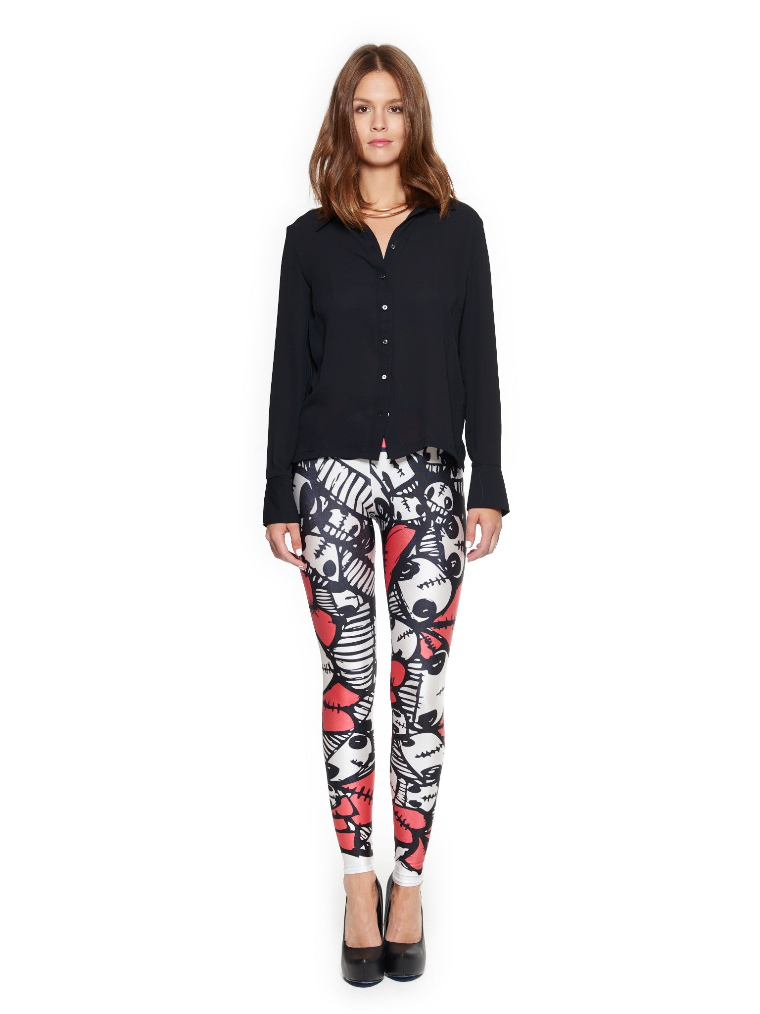 Heart Skulls Queen West Leggings - Nuvango  - 1