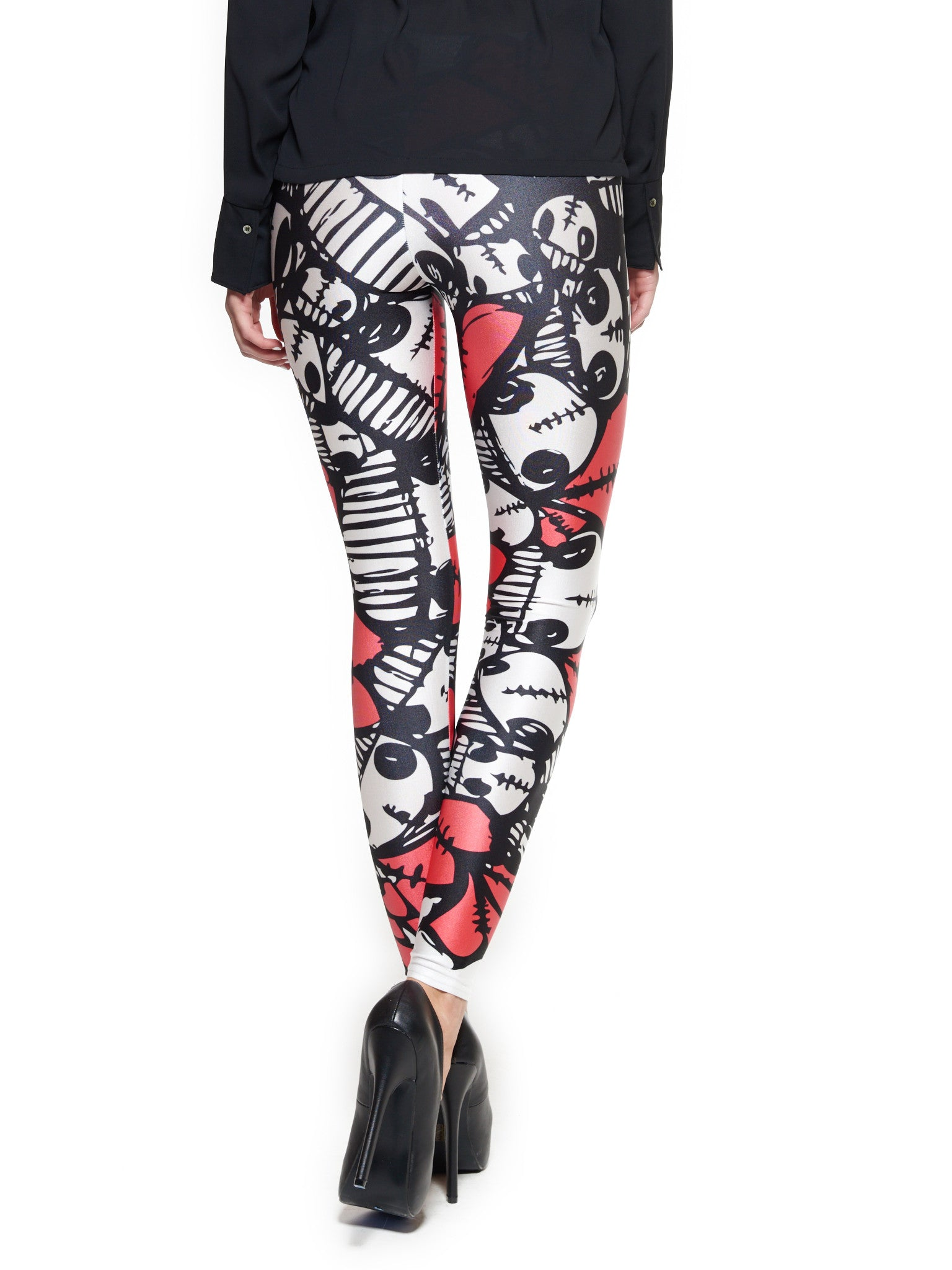 Heart Skulls Queen West Leggings - Nuvango  - 3