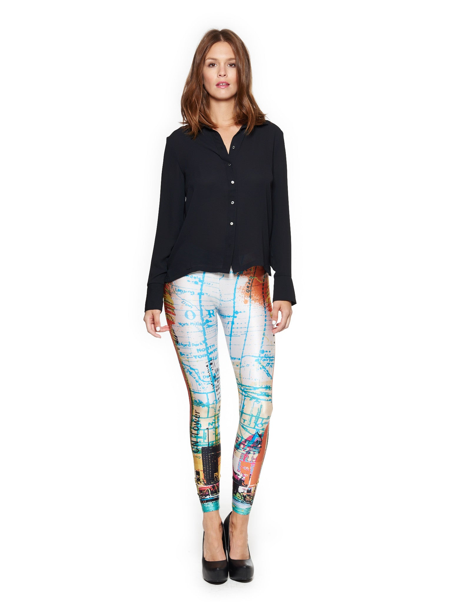 Toronto Skyline Queen West Leggings - Nuvango  - 1