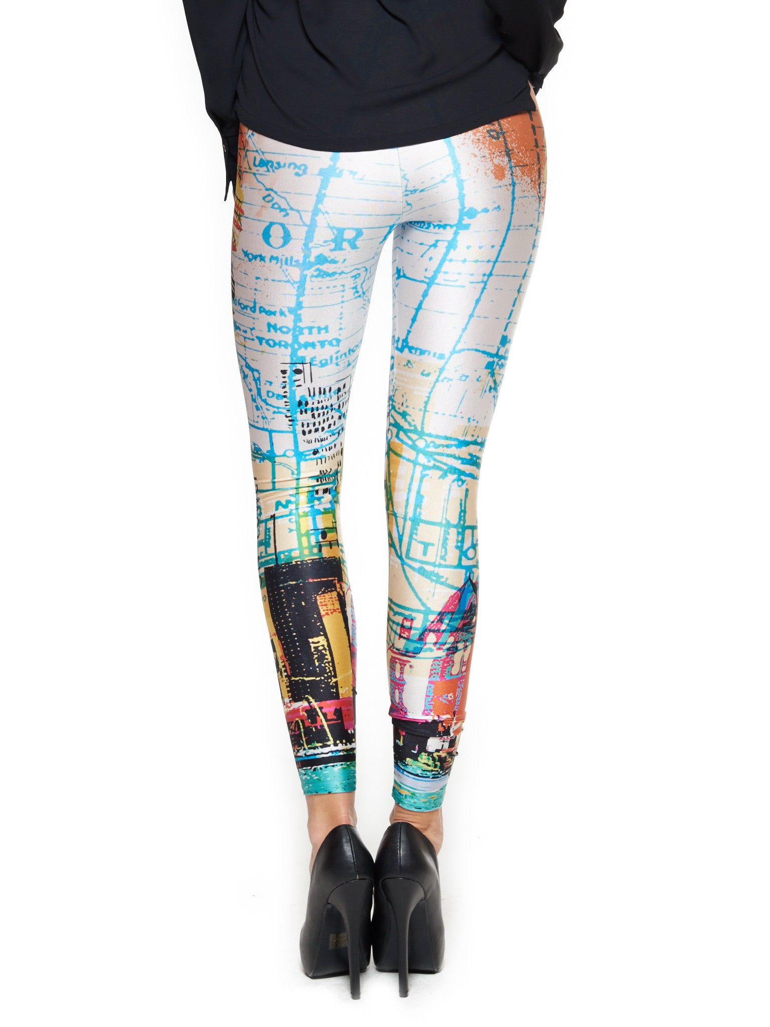 Toronto Skyline Queen West Leggings - Nuvango  - 3